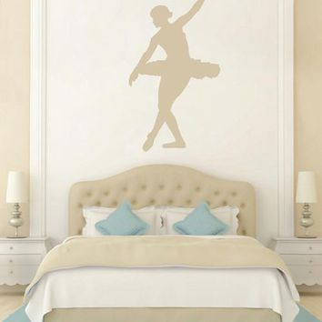 ik2268 Wall Decal Sticker ballerina dance ballet pas pirouette girl bedroom