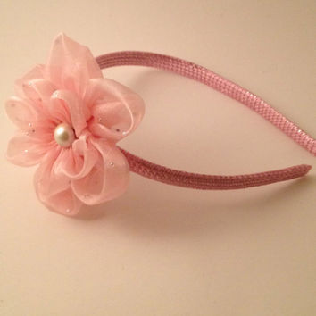 Pink and pearl Hairband