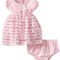 Nannette Baby-Girls Newborn 2 Piece Mini Rossette Dress Set, Pink, 0-3 Months