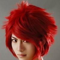 Yu look® Dark Red Anti-Alice Short Hair Cosplay Wigs