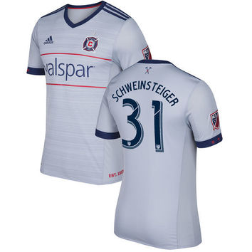 FAN SHIRT Chicago Fire 2017-2018 Secondary MLS SOCCER Team - Gray Jersey New Free Shipping