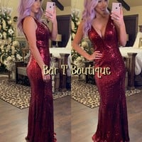 Holly Sequin Maxi Dress