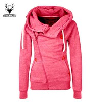 New Fashion Solid Women Hoodies Sweatshirts Spring Autumn Hoodies Women Zipper Design Thicken Hoody Women Hoody Sweatshirt