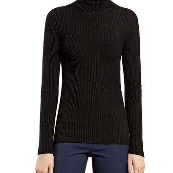 Black Cashmere Ribbed Cashmere Turtleneck Sweater - Gucci