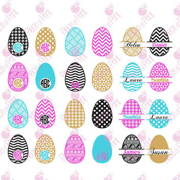 Easter SVG,Easter Egg svg cut files, DXF cut files, Monogram Frames svg for Cricut and Silhouette, Vinyl Cutters Cutting Files D4