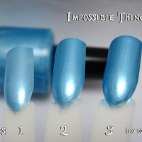 Impossible Things Blue Frost Nail Polish Alice in Wonderland Alice