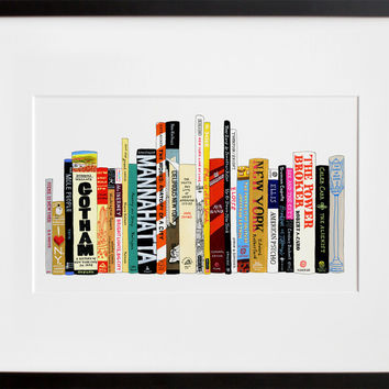 Ideal Bookshelf 364: NYC (Framed + Ready To Ship)