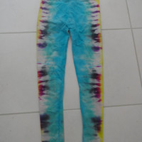 Tie Dye side scrunch leggings