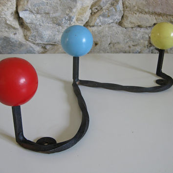retro French wall hooks mid century modern style