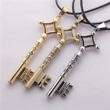 Cool Attack on Titan Anime  Eren Rivaille Ackerman Pendant  Necklace Men Women Jewelry Boy  Key Chains Gift AT_90_11