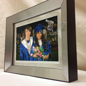 2013 Class Ring Holder and Graduation Announcement Double Sided Picture Frame, Charm Senior Gift