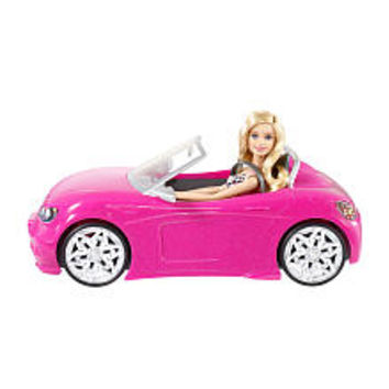 Barbie Pink Corvette Convertible Car & Doll Set