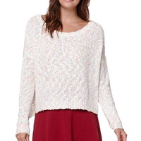 Lush Speckle Knit Pullover Sweater - Womens Sweater - Peach -