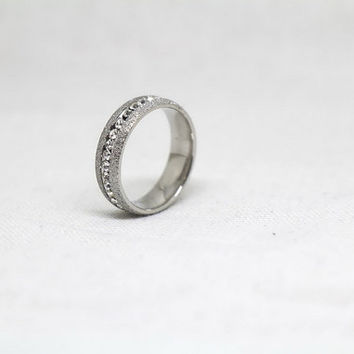 Free Engraving, Frosted Ring,promise ring,couple Rings, Lovers rings