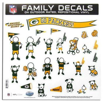 Green Bay Packers Family Decal Set