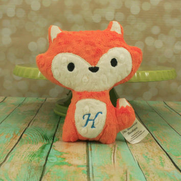 Fox Stuffed Animal - Personalized  plush, softie toy - Choose from 30 Color Options