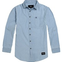 Lifetime Lucky Man Long Sleeve Woven Shirt - Mens Shirts - Blue