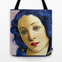 Venus In Blue Tote Bag by brett66