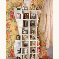 HOURGLASS CURIO - Dress Form Cubby Shelves