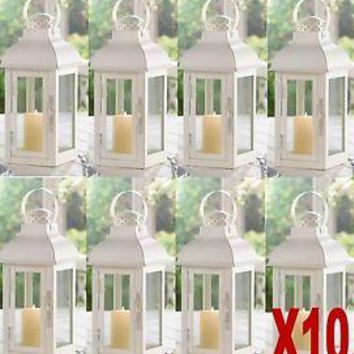 10 Terrace Medium White Wedding Lanterns