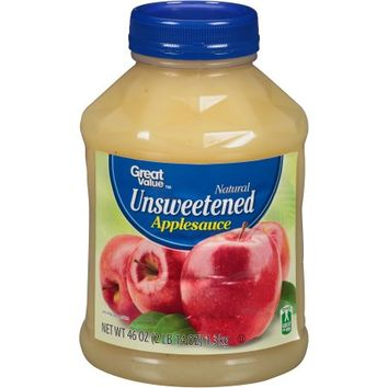 Great Value Unsweetened Applesauce, 46 oz - Walmart.com