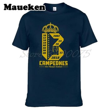 Men 2018 5.26 Kiev 13 3 Three Continuous Champions real T-shirt T Shirt Men's Tshirt For hala madrid ronaldo Tee W18052302