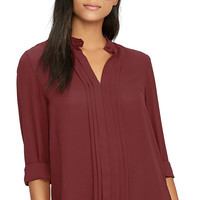 In Tune Wine Red Long Sleeve Top