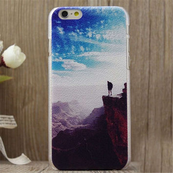 Mountaineering Print iPhone 5/5S/6/6S/6 Plus/6S Plus creative case Gift Very Light creative case-24