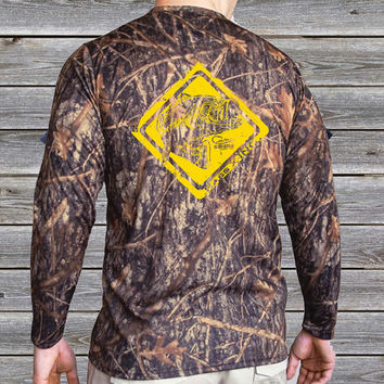 Bass Crossing Camo UPF Long Sleeve Shirt