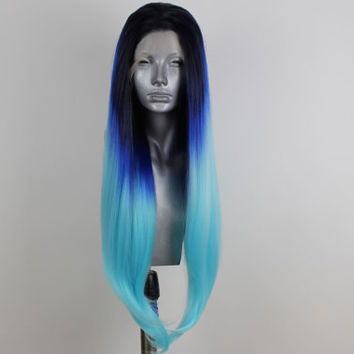 Amy- Ocean Ombre Lacefront Wig