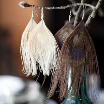McLaughlin Designs · DIY: Peacock Feather Earrings