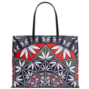 Tory Burch Kerrington Print Square Shoulder Tote