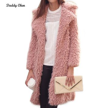 2018 New Spring Autumn Women Sweater Long Cardigan Korean Style Loose Women Hooded Sweater Knitted Pink Outerwear Coats