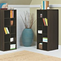 ClosetMaid 1546 Stackable 10-Cube Organizer, Espresso