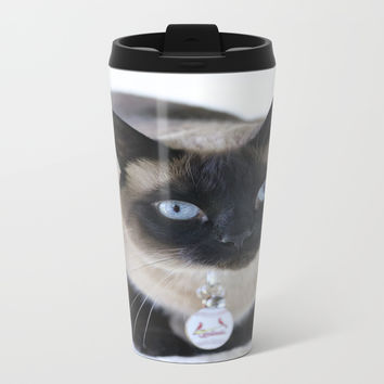 Innocent Expression Metal Travel Mug by Theresa Campbell D'August Art