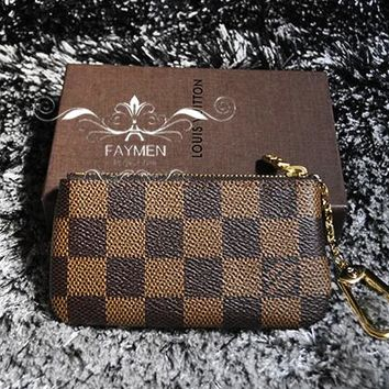 Louis Vuitton Monogram Canvas Key Pouch Key case - purse I-MYJSY-BB Coffee