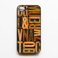 Letterpress iphone Case by onyourcasestore on Etsy