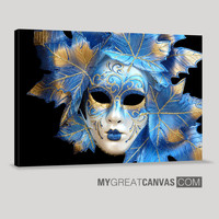 Venice Mask Canvas ART Print | Venice Mask Canvas Painting | Masquerade Art Wall Canvas