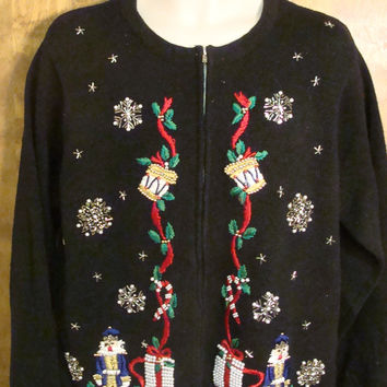 Nutcrackers and Drums Christmas Party Sweater