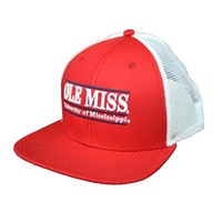 RED OLE MISS FLATBILL SNAPBACK