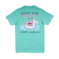 Preppy Beach Float Tee in Aqua by Simply Southern