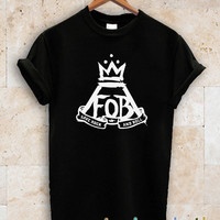fall out boy shirt fob tshirt black, white and gray cloting UNISEX Size