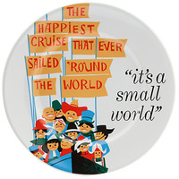 "Disney Parks Attraction Poster plate It's Small World 7"" new"