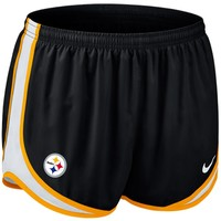 Nike Pittsburgh Steelers Women's Tempo Performance Running Shorts - Black