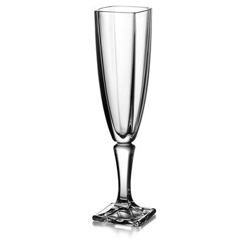 Crystal Gemini Flutes, Set of 4, Wine Glasses