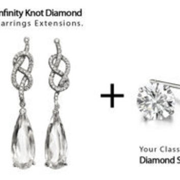 Infinity Knot Diamond Earrings Extensions14K Gold