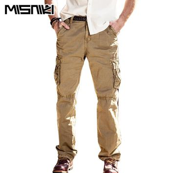 High Quality Tactical Pants Men Cotton Military Casual Cargo Pants Pantaloon Hombre
