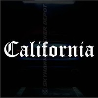 California Old English Bumper Sticker Vinyl Decal Truck Retro Vintage Sticker