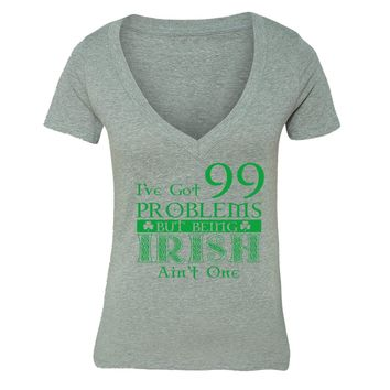 XtraFly Apparel Women's St. Patrick's Day Irish Pride V-neck Short Sleeve T-shirt