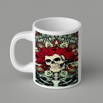 Gift Mugs | The Grateful Dead Skull And Roses   Ceramic Coffee Mugs